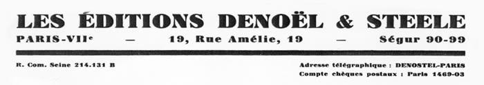 Les éditions Denoël et Steele