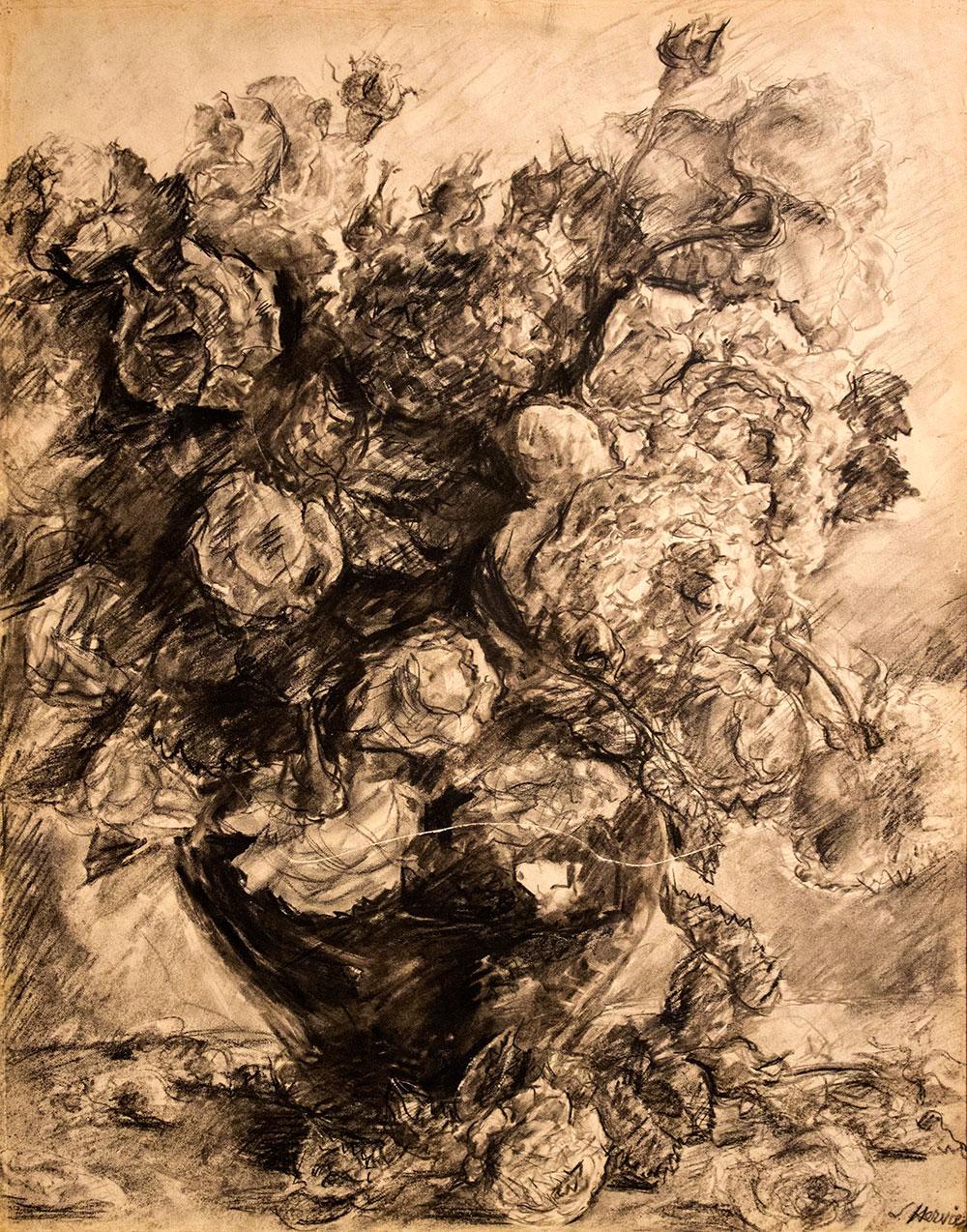Bouquet de roses par Louise Hervieu