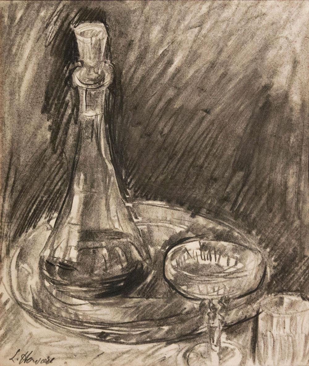 Carafe et verres par Louise Hervieu