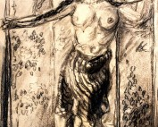 Danseuse orientale dénudée par Louise Hervieu