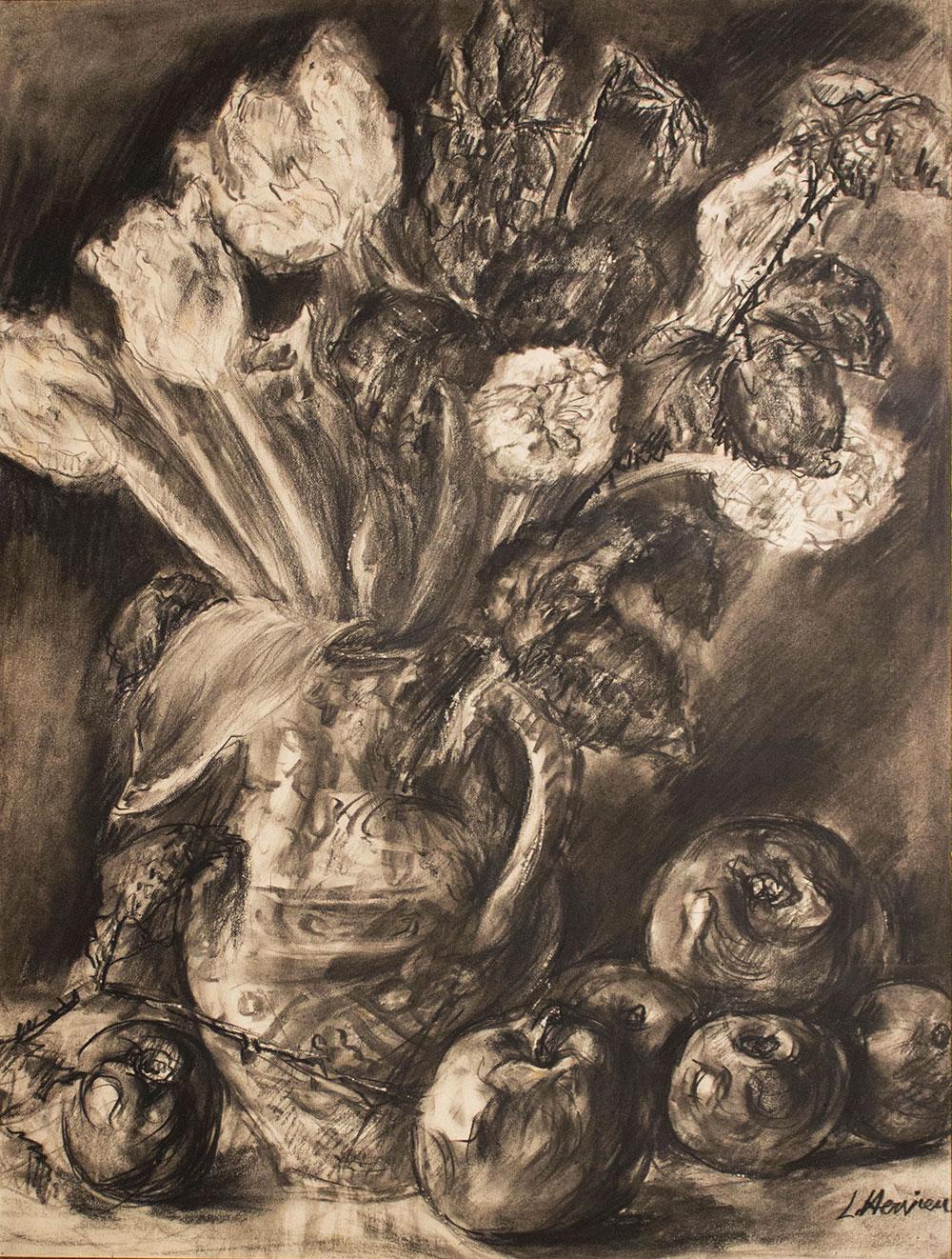 Fleurs et fruits par Louise Hervieu