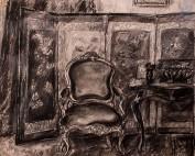 Intérieur au fauteuil Louis XV par Louise Hervieu