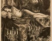 La veillée funèbre par Louise Hervieu