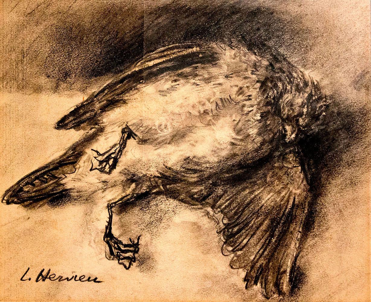 Nature morte à l'oiseau par Louise Hervieu