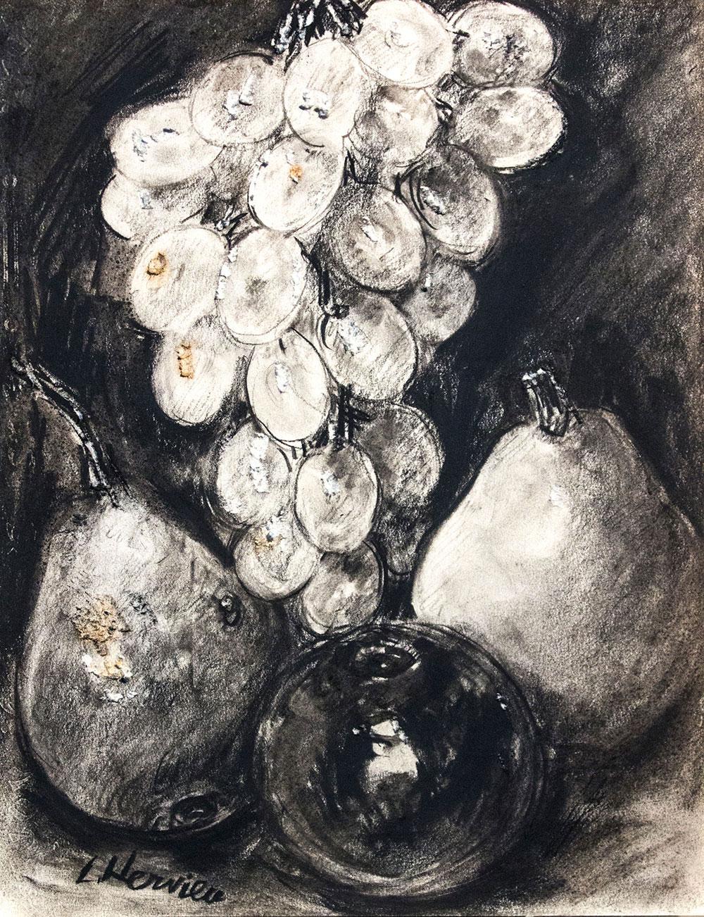 Nature morte aux fruits par Louise Hervieu